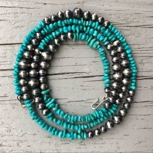 Boho Desert Pearl & Campitos Turquoise Necklace